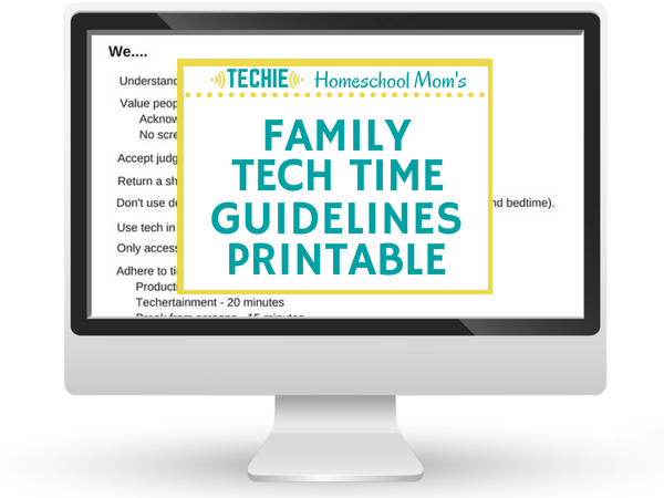 family tech time guidelines printable