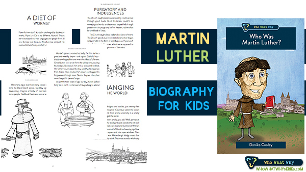 Teaching our kids Christian history is important (and often neglected).  Who Was Martin Luther? is a book that will help your kids learn about important events and people in the history of the church.